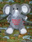PERSONALISED CUBBIES TEDDY - Ellie Elephant - Teddy Bear
